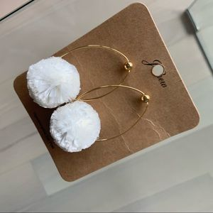 NWT Jcrew pouf earrings